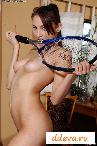 Теннисистка любит шалости